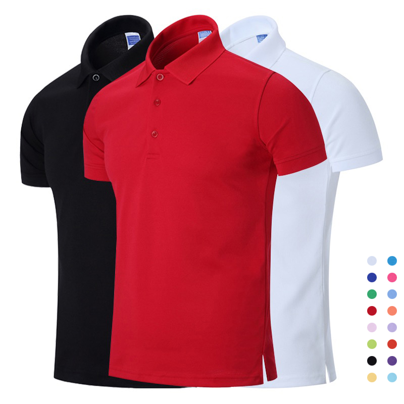 NIGRITY New Men   Polo   Shirt Mens Business Casual Solid   Polo   shirt Men Short Sleeve Breathable   Polo   shirt Men DIY Customized Logo