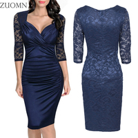 Women Sexy Lace Dress Women Vintage Ladylike Sexy Lace Dresses Lasies Work Office Pencil Dress Party Evening Vestidos Y165