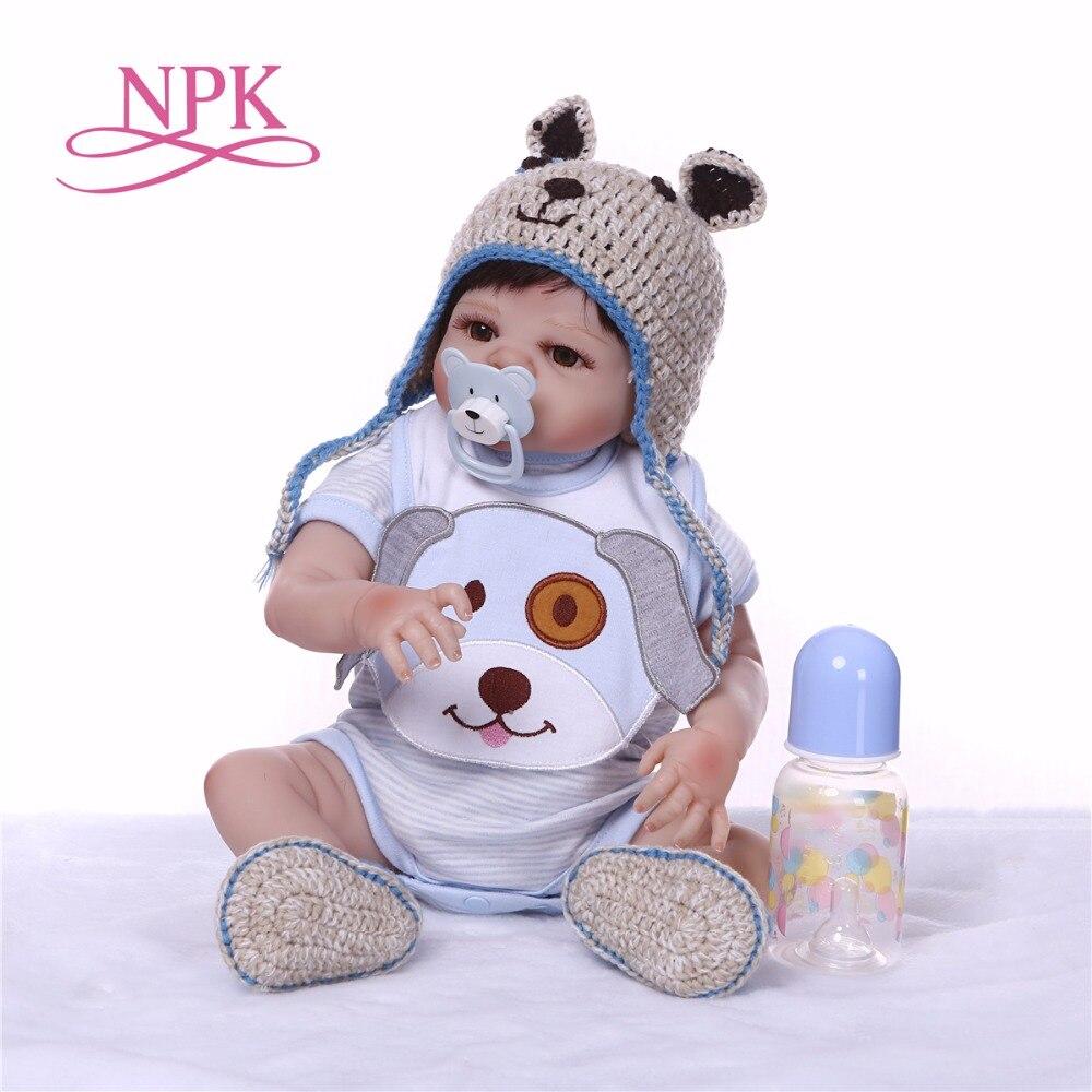 NPK Boneca Reborn 19 pulgadas suave silicona vinilo muñeca 47 cm suave silicona Reborn Baby Doll recién nacido realista Bebe Reborn muñecas-in Muñecas from Juguetes y pasatiempos    1