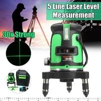 5 Line 3D Laser Leveler 360 Degree Self Leveling Vertical Horizontal Level Cross Powerful Laser Beam Line Color Green