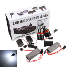 2 x 40W H8 LED 6000K White Chips HID Bulb Halo Ring Angel Eyes light For E90 E92 E60 E70 X5 X6 New angel eyes upgrade