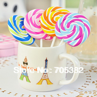 1PC Creative Candy Color Lollipop Shape Eraser,gift Stationery Supplies(ss-1388)