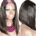 14Inch Layered Bob Upart Wig Human Hair Malaysian Remy Virgin Hair 130% Density 1.5*4 Middle U Shaped Part Wigs Accept Custom