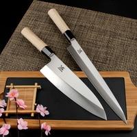 BIGSUNNY Set of 2 Pcs Sashimi Knife Set German Steel Sushi and Deba Knife 10.5&7,10.5& 8,12& 7,12& 8 Wood Handle