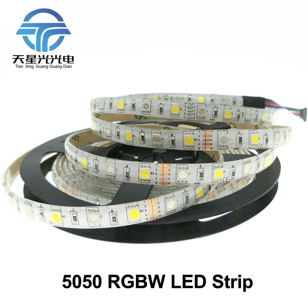 TXG libera el envío LED Strip 5050 RGBW DC12V IP65 impermeable 60LED - Iluminación LED