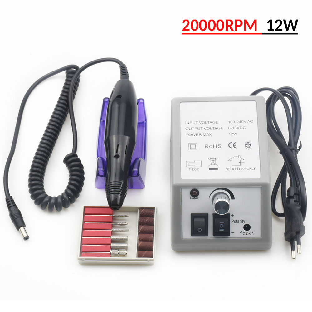 Electric Nail Drill Machine For Manicure And Pedicure Drill 12W Milling Manicure Machine Nails Equipment Set Electric Nail FileElectric Nail Drill Machine For Manicure And Pedicure Drill 12W Milling Manicure Machine Nails Equipment Set Electric Nail File