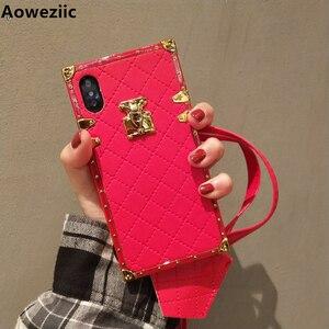 Image 1 - Aoweziic 高級ブランド革ケース iphone 11 プロマックス xr xs 最大電話ケースバックカバー 6s 7 8 プラス PU ソフトシェルとストラップ