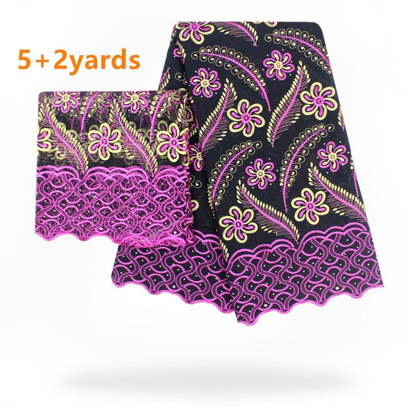 2018 juillet nouvelle arrivée coton africain dentelle tissu bonne qualité africaine suisse voile dentelle confortable style pour robe f1fhj297
