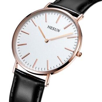 Switzerland Nesun Watch Men Luxury Brand Japan MIYOTA Quartz Movement Men's Watches Genuine Leather Waterproof clock N8801-LM1