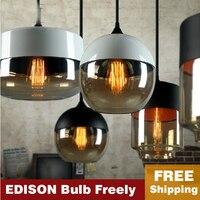 Edison Bulb Freely American Vintage Single Head Creative Personality Glass Pendant Lamp Cristal Colgante De Luz