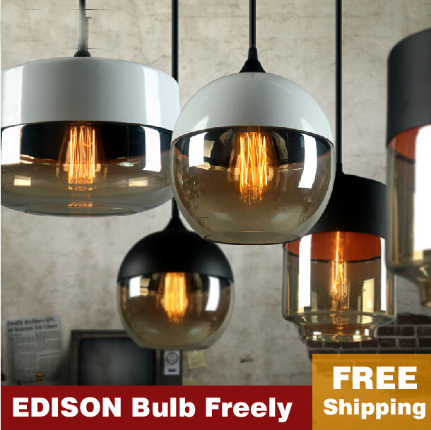 New American industrial loft vintage pendant lights black white iron edison glass retro loft vintage pendant lights lamp american industrial loft vintage pendant lights black white iron e27 glass retro loft vintage pendant lights lamp zdd0022