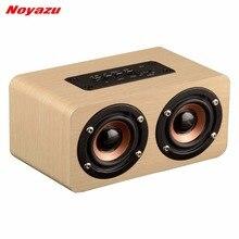 Noyazu Desktop hoparlor Ретро древесины Bluetooth Динамик portátil звук Доль громкоговоритель Бумбокс стерео Динамик системы для ноутбука
