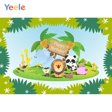 Yeele Birthday Animals Zoo Green Leaves Windmill Photography Backdrops Personalized Photographic Backgrounds For Photo Studio