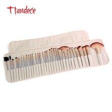 TTANDECE 32 шт макияжа набор кистей для макияжа Набор инструментов Профессиональный набор кистей сделаны синтетического волокна визажист с Цвета