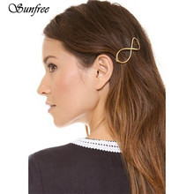 Sunfree 2016 New Hot Sale Women Positive Infinity Gold Barrette Hairpin Hair Clip Headband Brand New and High Quality Nov 11