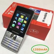 T8 double SIM double veille mobile téléphone 2.8 pouce écran téléphone portable Russe clavier téléphone H-mobile T8