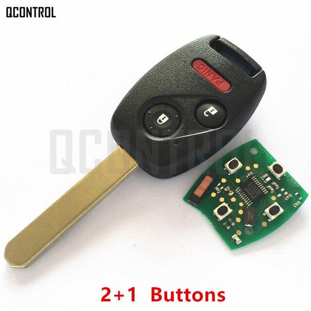 Qcontrol auto remoto chave terno para honda modelo HLIK-1T accord elemento piloto CR-V HR-V apto cidade jazz odyssey fleed 313 mhz