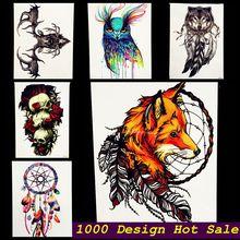 1PC Latest 3D Fox Designs Flash Waterproof Tattoo Women Body Art Sleeve Tatoo GHB-358 Feather Totem Armband Men Tattoo Stickers