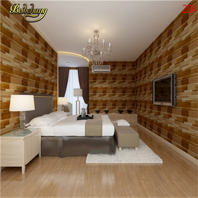 beibehang Straw solid Bamboo Effect Grass Cloth Nature Plain Taupe Brown Plain Faux Grasscloth Texture Hotel Bedroom Wallpaper