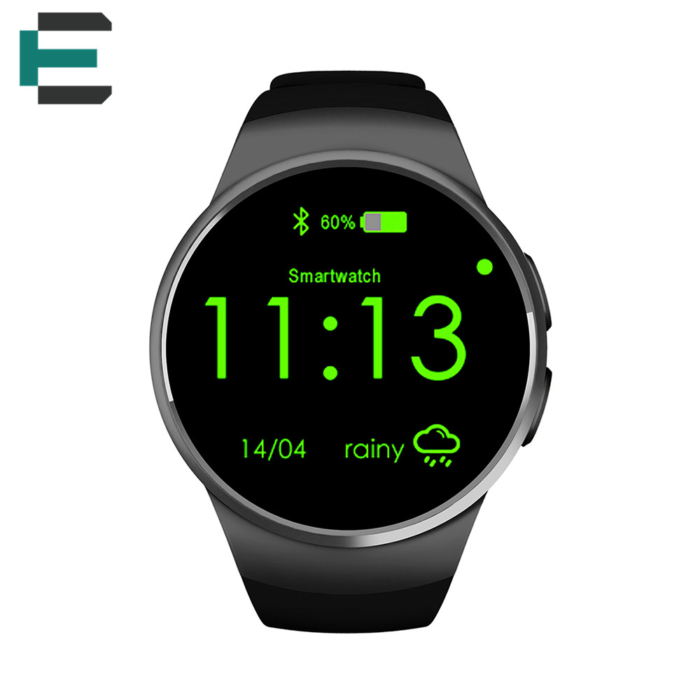 E T KW18 MTK2502C 4 0 bluetooth Sim card slot smartwatch 1 3 round screen siri