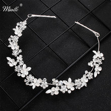 Miallo Newest Crystal Flower Hair Vine Bridal Head Jewelry Accessories Wedding Headpieces Princess Tiaras and Crowns