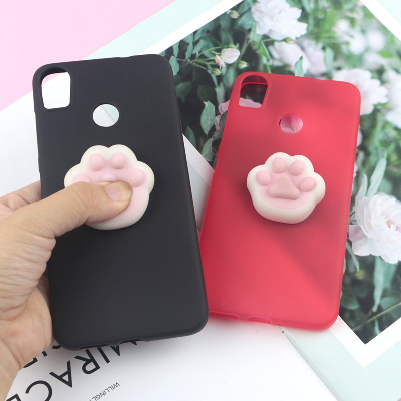 3d Squishy Toys Cute Cat Case For Google Pixel 2 Xl Pixel2 Pixel Xl Cover Funny Cat Soft Cases Phone Bags & Cases