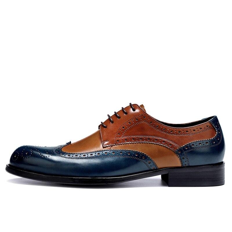 Cuir Main Mode À Respirant D'affaires La Richelieu Classique Pour Formelle Robe Multi De Hommes Sculpté En Chaussures nPpqftqB0