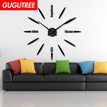 Decorate 3D clock art wall mirror sticker decoration Decals mural painting Removable Decor Wallpaper LF-1903