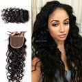 Cheap Virgin Peruvian hair Closure Water Wave 4X4 unprocessed Virgin Hair Closure Piece Wet and Wavy closure