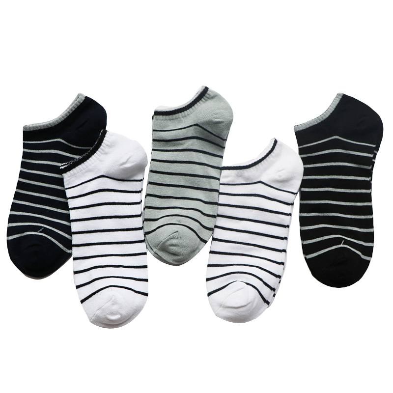 3Pair Striped Mens Socks Male Business Dress Socks Fashion Art Invisible Man Sock Slippers Shallow Mouth Socks Meias Calcetines