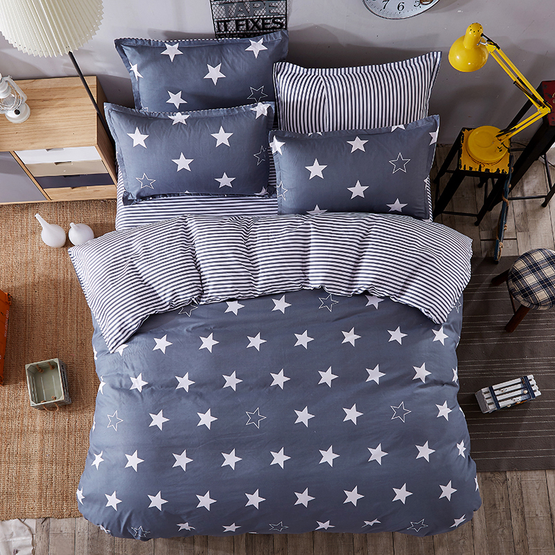 JU Home Bedding Sets White Star Clouds Plaid Twin/full/queen/kingsize Duvet Cover Sheet Pillowcase Bed Linen Bedclothe 5JU Home Bedding Sets White Star Clouds Plaid Twin/full/queen/kingsize Duvet Cover Sheet Pillowcase Bed Linen Bedclothe 5