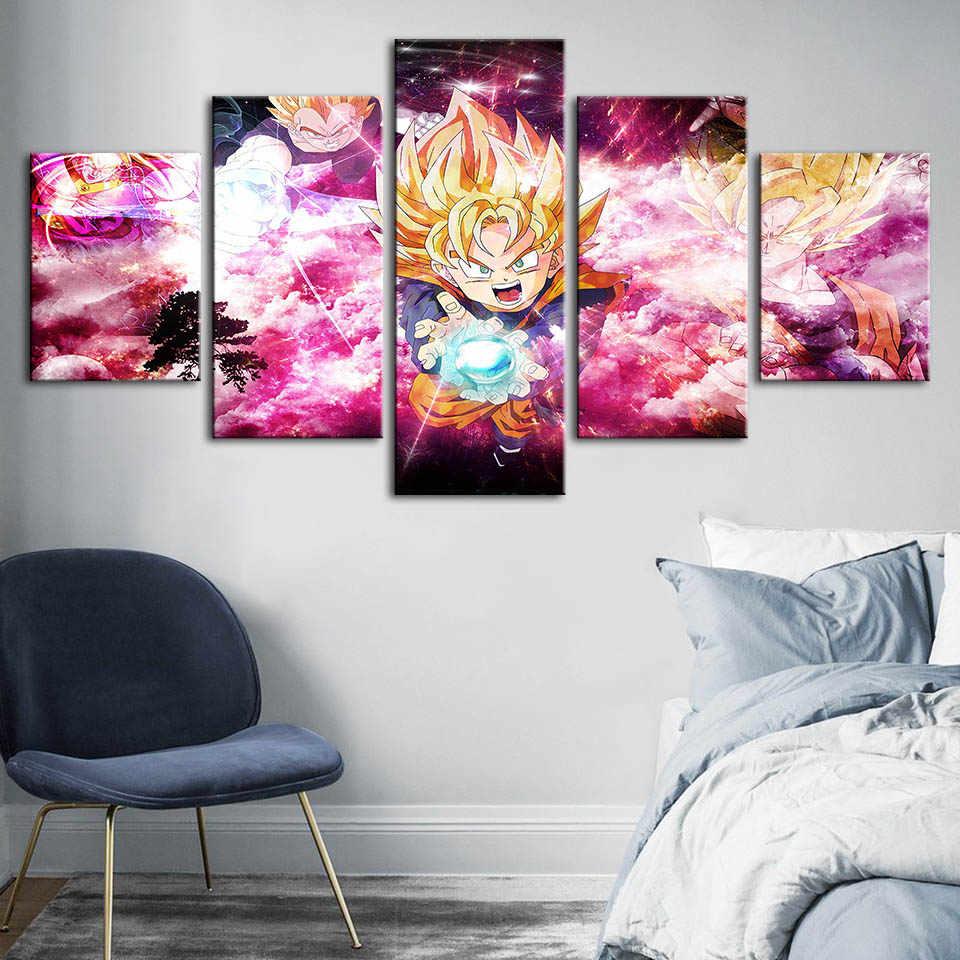 جدار الفن HD يطبع ديكور المنزل لعبة دراغون بول المشارك طابع الرسوم المتحركة الصور قماش لوحات غرفة المعيشة إطار عمل فني