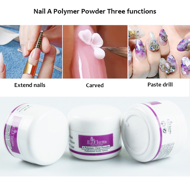 Sparkle Three Colors Option Acrylic Crystal Powder Nail Tips Polymer Builder Art 70