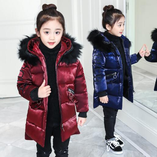 Girl Winter Coat 2018 Fashion Children Warm Hooded Jackets Girls Cotton Padded Long Parka Outerwear Kids Casual Thicken Clothes long section men s solid cotton padded wadded jacket fashion clothes trench coat hooded jackets casual outerwear slim parka 3xl