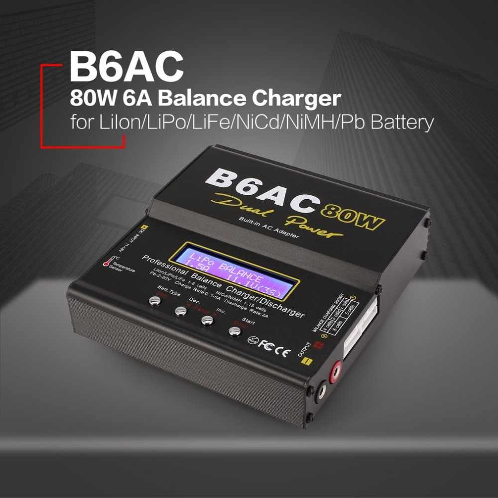 IMAX B6/6AC EU/ONS 80W 6A Lipo NiMh Li-Ion Ni-Cd RC Balance Charger10W 2A ontlader with15V/6A AC/DC Adapter forRC Model Batterij