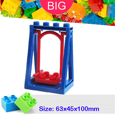 Large Building Block compatible Duplo Parts 6496 Swing Classic Piece Big Dot Brick Toy Bricklink D6496 umeile brand farm life series large particles diy brick building big blocks kids education toy diy block compatible with duplo