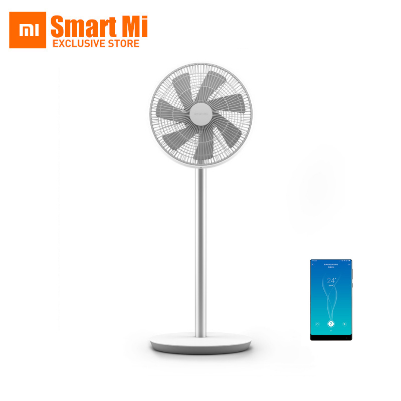imágenes para Original xiaomi inteligente ventilador de pie natural cómodo viento dc frecuencia de aplicación de teléfono inalámbrico de control remoto construido en batería