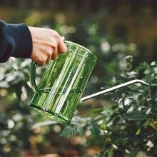 1000 мл поливной чайник, поливная банка, инструмент для садоводства с длинным ртом, суккулентное устройство для полива со шкалой(черный