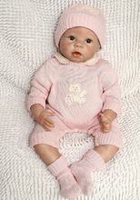 22 Inch Very Soft Silicone Newborn Baby Doll Red Face Reborn Babies Dolls Lifelike Real Baby Doll for Children Gift