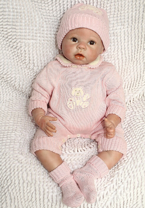 NPKCOLLECTION 22 Inch/ 55 cm Very Soft Silicone Newborn Baby Doll Reborn Babies Dolls Lifelike Real Baby Doll for Children Gift 55cm silicone reborn baby doll toy lifelike npkcollection baby reborn doll newborn boys babies doll high end gift for girl kid