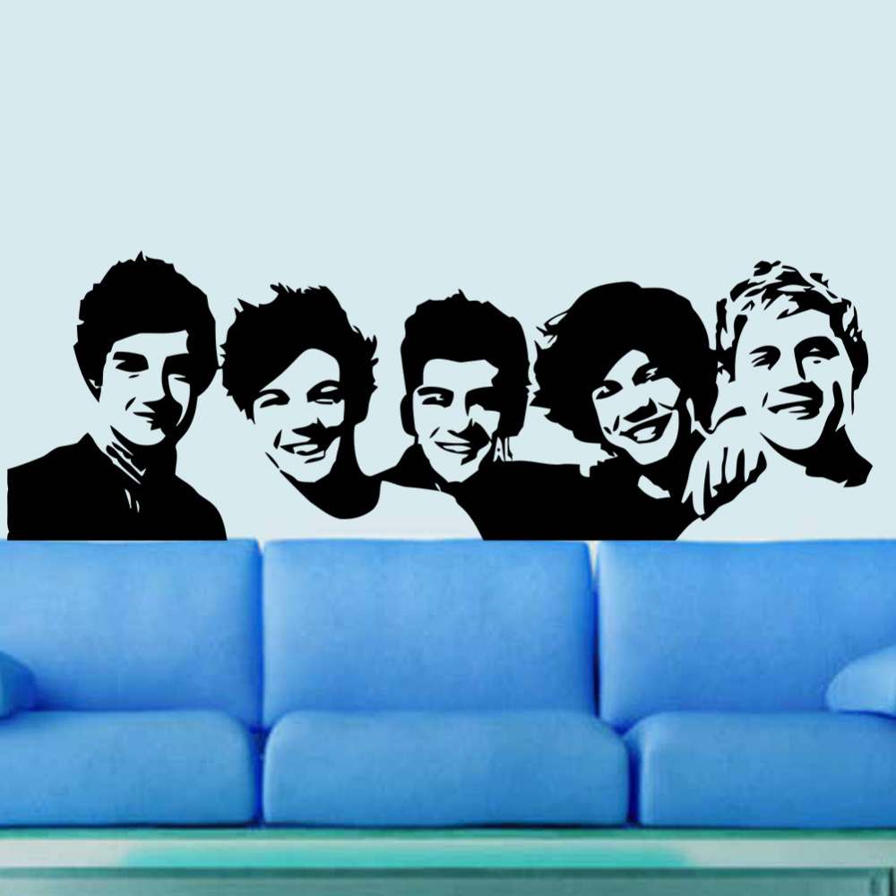 One Direction Wallpaper For Bedroom Aliexpresscom Buy One Direction Wall Sticker 1d Poster Girls