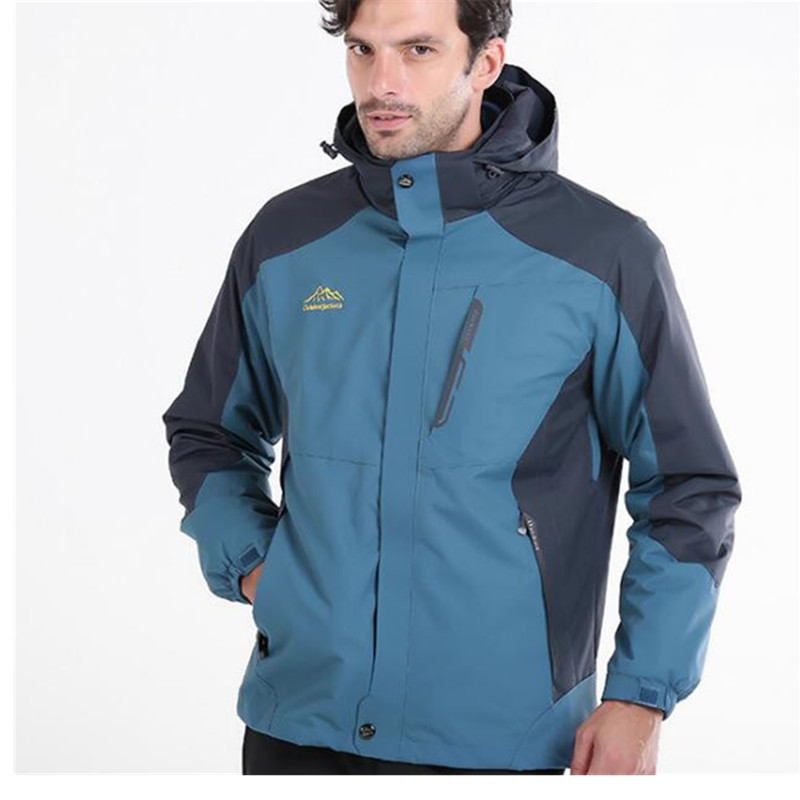3 en 1 Camping extérieur vestes hommes imperméable coupe-vent, hiver lumière chaude Petite recherche Ski grande taille randonnée vestes pour les femmes
