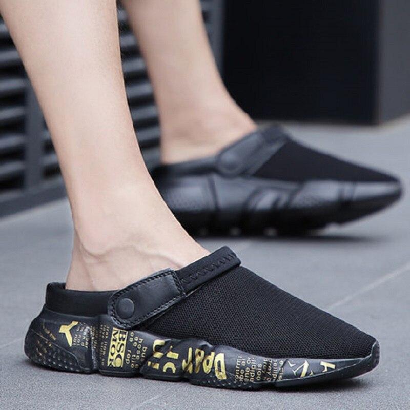 2018 summer men's hole shoes beach shoes sandals tide fashion wear semi-skid sandals 56