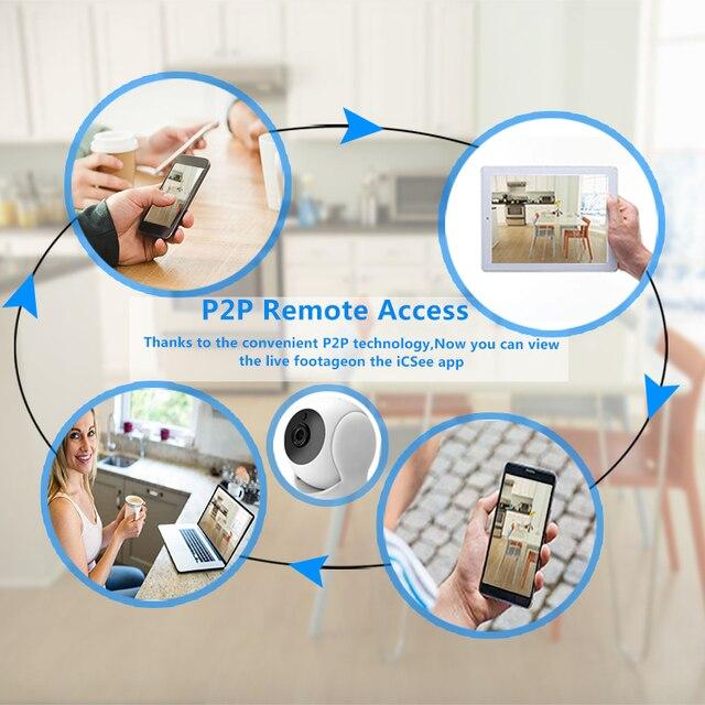 IP Camera Home Security Two Way Audio HD 720P Wireless Mini Camera 1MP Night Vision CCTV WiFi Camera Baby Monitor 4