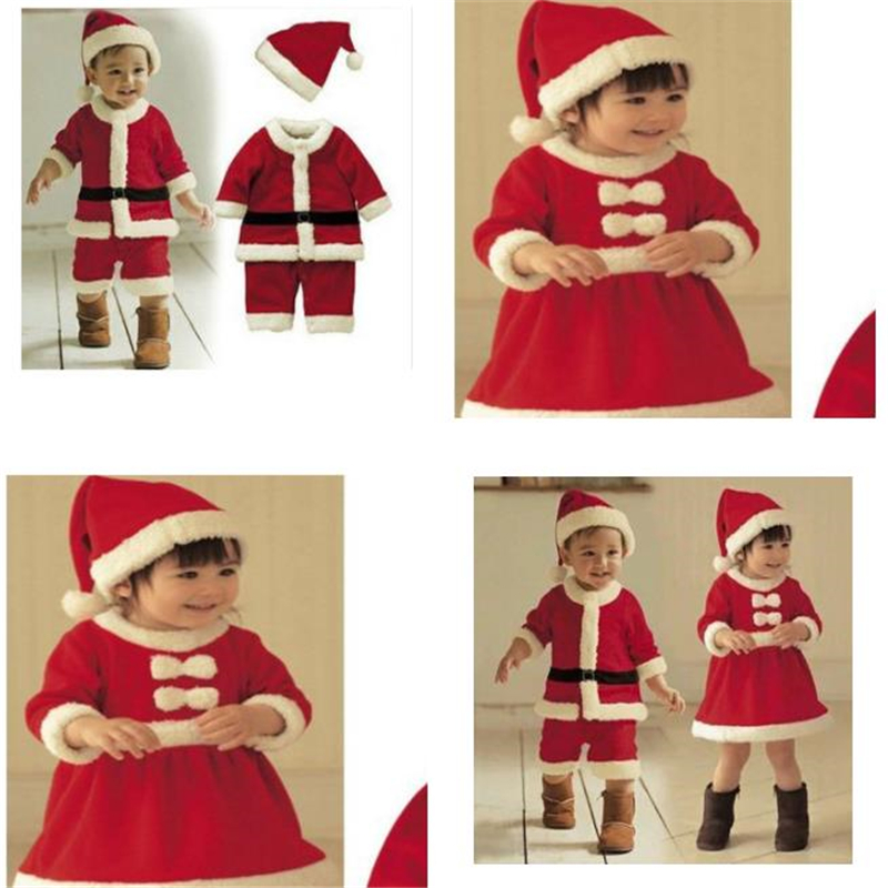 Christmas Costume Children's Christmas Play Costume Santa Claus Dress Up Costume Boy Performance Costume Set