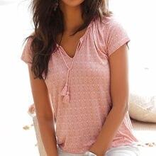 Camiseta de dibujo bohemio para Mujer, Top de playa, Camisetas de Manga Corta para vacaciones de verano, Camisetas de Mujer
