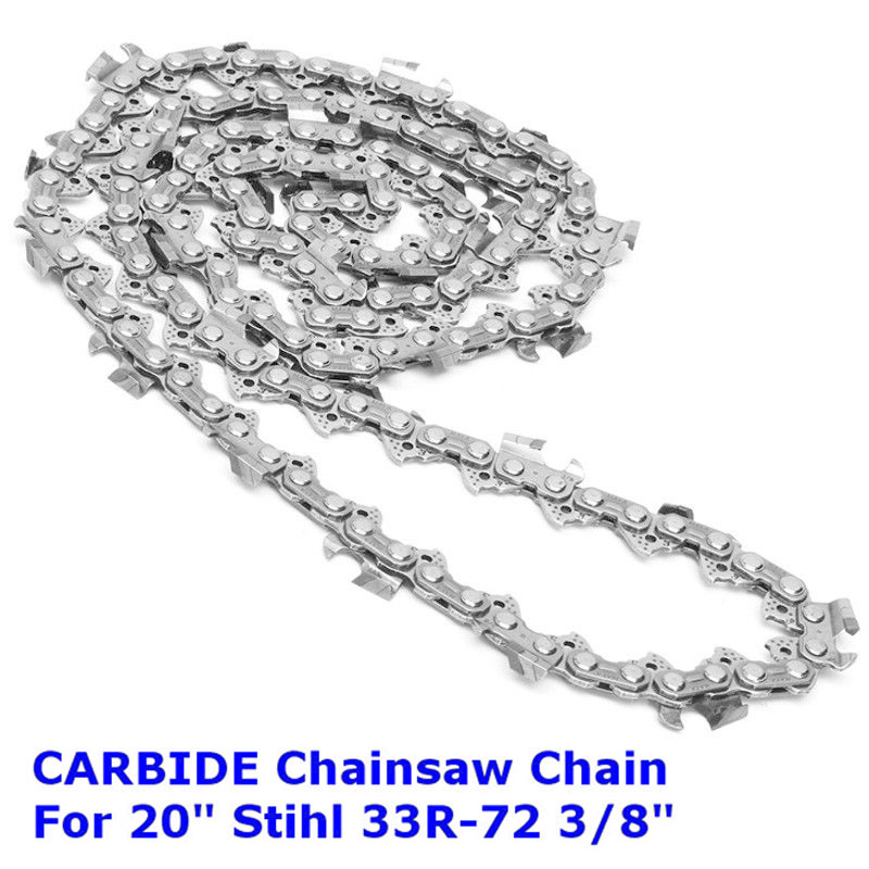 Carbide Chainsaw Saw Chain 20 3/8 33R-72 .063 For Stihl MS290 MS291 Husqvarna 4pcs 20 chainsaw guide bar with saw chain 3 8 72dl 63 for stihl ms290 ms291 310 340 360 361 361c power tools accessories