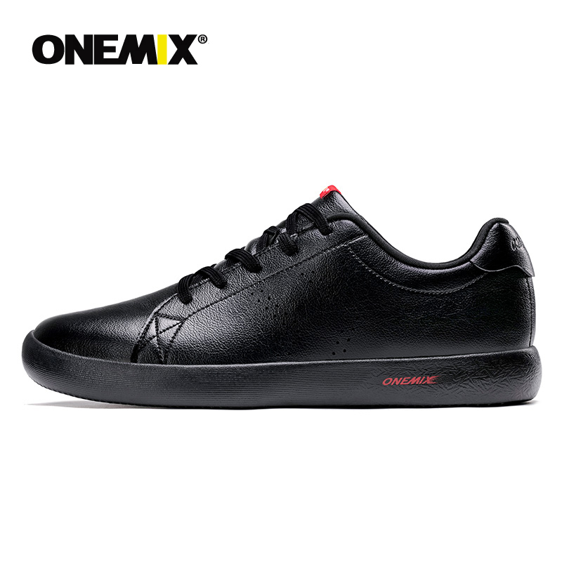 ONEMIX <font><b>Unisex</b></font> <font><b>Skateboarding</b></font> <font><b>Shoes</b></font> Men Double-Sided Synthetic Leather Sneakers Lightweight Outdoor Casual <font><b>Shoes</b></font> image