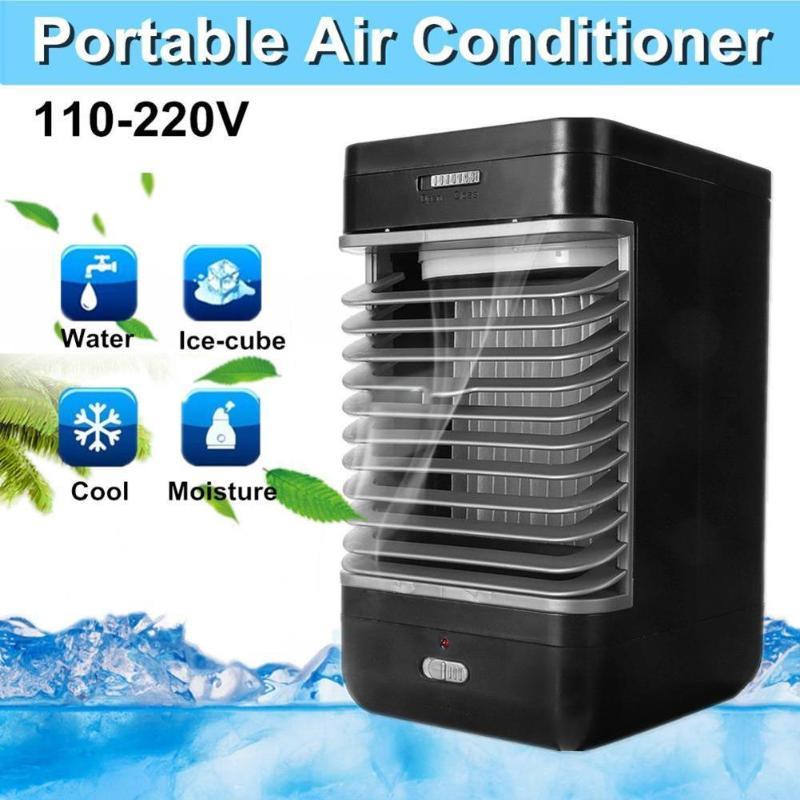 2018 Mini Petit Électrique Refroidisseur D'air Portable Ventilateur Climatiseur Batterie Table Ventilateurs De Bureau De Refroidissement Air Conditionné N'importe Quel Espace Accueil
