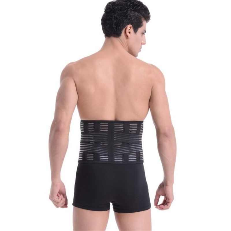 1e99c50af45 Women Orthopedic Back Support Medical Lower Back Brace Breathable Lumbar  Corset Waist Belt Support Men Fitness